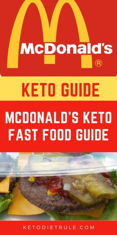 17 best low-carb keto fast food options at McDonald's. Is it possible to eat at McDonald's on a keto diet? There are many low carb Keto options on the McDonalds menu. Here are 17 best Keto McDonald's foods. Keto Mcdonalds, Keto Fast Food Options, Mcdonald Menu, Low Carb Recipes, Healthy Recipes, Keto Snacks, Diet Desserts, Keto Foods, Keto Meal Plan
