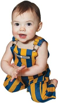 These Royal Blue and Yellow Infant Overalls will have your newborn scoring touchdowns in no time.