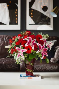 Teleflora's Swirling Desire Bouquet | Valentine's Day Flowers | Gifts | Romantic Gifts | Red Roses | Stargazer Lilies | #teleflora #flowers
