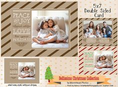 Christmas and Holiday Photo Templates  5 x 7 by WarmHeartPhotos