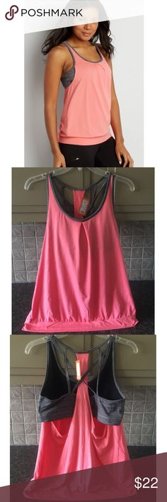 NWT!💗 Maurices Pink In Motion Active Tank NWT!💗 This tank is so pretty and super comfortable, along with a built in sports bra! 😍🙌 Smoke free/pet free home🏡Feel free to make me an offer or add it to a bundle and I will send you an exclusive offer!☺️👍 Maurices Tops Tank Tops