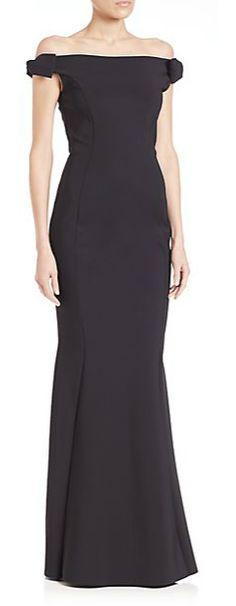 La Petite Robe di Chiara Boni Bow Off the Shoulder Gown