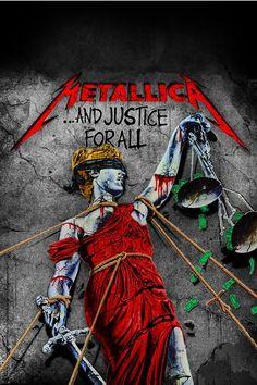 Metallica - And Justice for All Mais Arte Heavy Metal, Heavy Metal Rock, Heavy Metal Music, Heavy Metal Bands, Metallica Album Covers, Metallica Albums, Metallica Art, Thrash Metal, Rock Posters