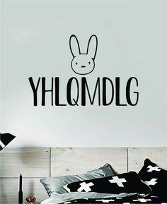 Bad Bunny YHLQMDLG Wall Decal Home Decor Sticker Vinyl Bedroom Room Quote Spanish Music Reggaeton Girls Funny Teen Lyrics - orange