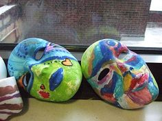 masks from art therapy group