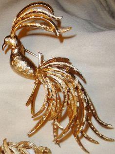 Avon - Vintage - Bijoux - Broche 'Oiseau de Paradis' - Années 60