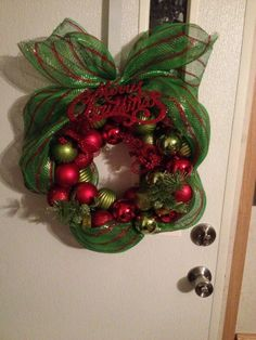 Christmas Wire Hanger Ornament Wreath