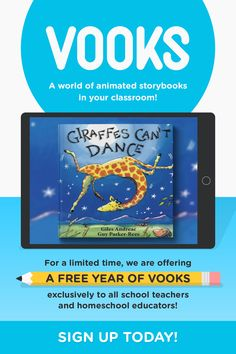 Teacher Appreciation: Our Gift To You, , Vooks brings children's books to life with animated illustrations, read-a-long text and narrated story. The ad-free platform features a variety titles. Teaching Reading, Teaching Tools, Teaching Resources, Futuro Simple, Maila, School Teacher, Teacher Appreciation, Learning Activities, Teaching