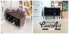 Portabottiglie modulare di design by Cool Art, Made in Italy.
