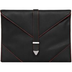 Reiss Arleta Envelope Clutch (2,675 MXN) ❤ liked on Polyvore featuring bags, handbags, clutches, black, bolsos, zipper purse, black envelope clutch, black leather purse, genuine leather handbags and black envelope clutch bag