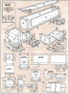 # 3063 Planuri de camioane din lemn jucărie - Planuri de lemn de jucărie