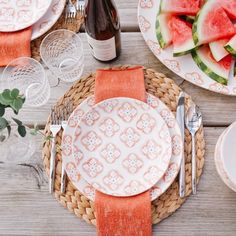 Dining Alfresco with our NEW Bargello Dinnerware Collection | LC Living Restaurant Patio, Blue Dinnerware, Dinner Salads, Bargello, Cereal Bowls, Flatware Set, Serving Platters, Rustic Style, Own Home