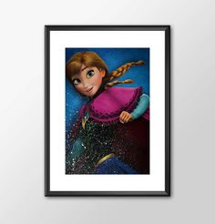 Anna From Frozen - Digitally Painted Tribute  - PRINTED - BUY 2 Get 1 FREE by ShamanAlternative on Etsy