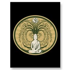 Buddha Under the Bodhi Tree Post Card