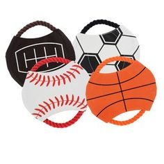 Sports Rope Flying Disk Dog Toys (Set of 4)