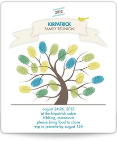 Magnetic Family Reunion Invitations - The Great Get-Together