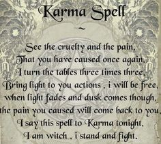 Should you summon Karma? Spells For Beginners, Witchcraft For Beginners, Witch Spell Book, Witchcraft Spell Books, Wiccan Books, Healing Spells, Magick Spells, Luck Spells, Karma Spell
