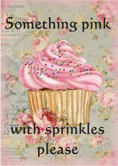 """Something pink with sprinkles please."" Story of my life - Everything is better with sprinkles and pink Cupcakes Rosa, Pink Cupcakes, Pretty Cupcakes, Strawberry Cupcakes, Pretty In Pink, Pink Love, Pink Pink Pink, Hot Pink, Cupcake Torte"