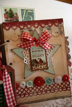 Love this beautiful journal...Cards by lorie