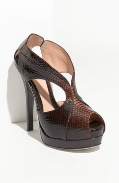 Fendi Snakeskin Platform Pump. cute cut-outs, not sure how i feel about the snakeskin :/