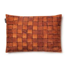Snurk Beddengoed Sierkussen hoes 'Heather leather' bruin leer 35x50cm