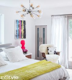 Take a Peek Inside Coco Rocha's Sprawling Stone Cottage in Westchester - THE MASTER BEDROOM - from InStyle.com
