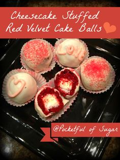 cheesecake stuffed red velvet cake balls