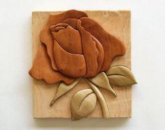 Wood intarsia | Etsy