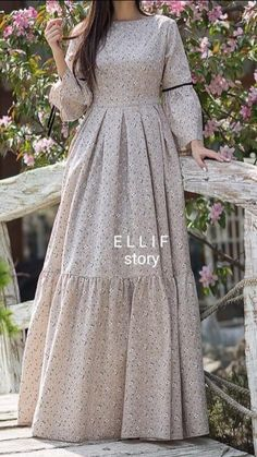 Romance dress from Ellif story. A wonderful piece for casual wear. With pretty floral patterns it gives a stylish modest look. A satisfying garment for high demands. Fabric: Organic Linen Available colours: Beige, Grey, Blue, Powder Size: S M L Casual Wear, Romance, Organic, Beige, Patterns, Chic, Stylish, Pretty, Floral