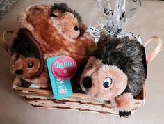 HEDGEHOGS Dog Gift Basket by HappyDogGoodies on Etsy