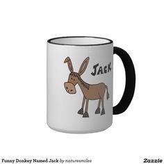 Funny Donkey Named Jack Classic White Coffee Mug