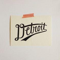 hand-written, detroit