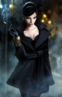 MARIE -  A fashion extrodinarie, turned Godmother of the infamous La Veuve Noire burlesque-assassin group.