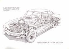 Iso Rivolta GT - Cutaway