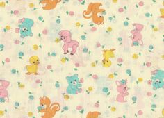 Cute Little Animal Fabric 1/2 Yard. $2.50, via Etsy.