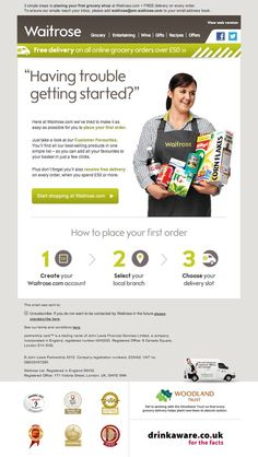 This morning I received this great reminder/re-activation email from Waitrose. Since registering with them, I haven't placed an order, so they have sent me a reminder email to assist me with my first purchase.  The email looks great, and also has some fantastic responsive design. Check out the next Pin to see it in all it's glory.