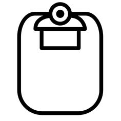 Clipboard rounded icon