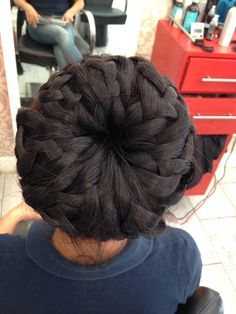 Braided bun by Jeyhunstyle