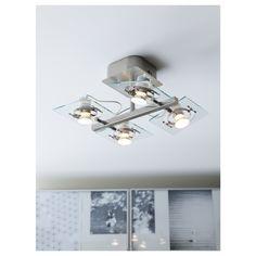 IKEA FUGA ceiling spotlight with 4 spots Adjustable spotlights.