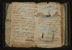 Image of the earliest known piece of writing by Charlotte Brontë, part of Charlotte Great and Small at the Brontë Parsonage Museum, Haworth. 'Tracy Chevalier on her role as curator in the celebrations marking the author's bicentenary in Haworth' ― article via the Guardian, April 2016.