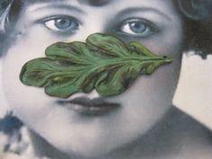 Verdigris Patina Brass Leaf Pendant  2277VER  by dimestoreemporium, $2.50