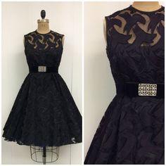 années 1960 parti robe 60 s petite robe par CreatedAndCollected