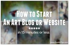 An art blog is the best way to brand yourself as an artist, and to market and sell your art. Want to know how to start an art blog or website (or any kind of blog/website,