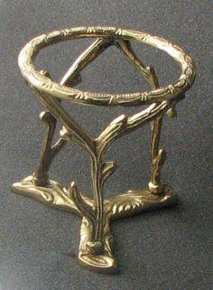 "Small Brass Branch Ostrich Pysanka Egg Stand,Sphere, Ball Display/Holder,3 3/4"" | eBay Emu Egg, Egg Holder, Eggs, Brass, Display, Gold, Jewelry, Floor Space, Jewlery"