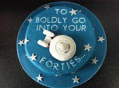 Star Trek USS Enterprise cake
