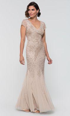 Mother Of The Bride Dresses Long, Mothers Dresses, Ruffles Bridesmaid Dresses, Wedding Dresses, Older Bride, Mob Dresses, Bride Gowns, Adrianna Papell, Elegant Dresses