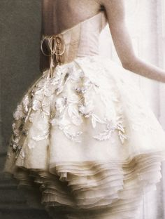Michelle Westgeest wearing Christian Dior Haute Couture Fall/Winter 2009 photographed by Yuval Hen