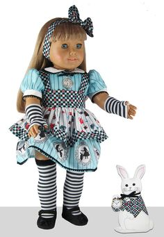 """18"""" Doll Clothes Kit - """"Look it's Alice!"""" - Tea Time Fabric Panels """"Alice""""…"""