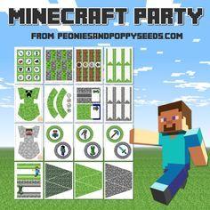 Kit de Minecraft para Imprimir Gratis.