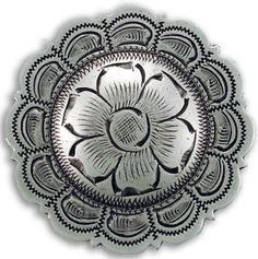 heritage+brand+conchos | Round Silver Steerhead
